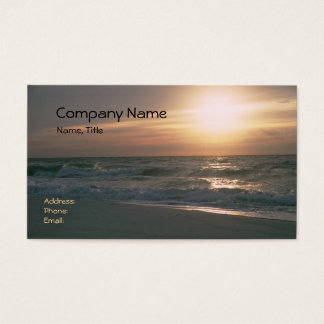 Pensacola Beach Sunrise Business Card