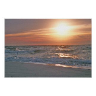 Pensacola Beach Sunrise Poster