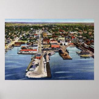 Pensacola Florida Aerial View Poster