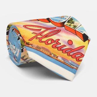 Pensacola Florida FL Old Vintage Travel Souvenir Tie