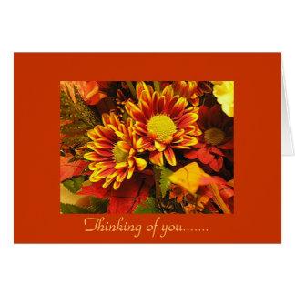 Pensant à vous, conception d'automne carte de vœux