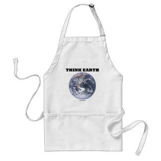 Pensez la terre (la terre de marbre bleue) tabliers