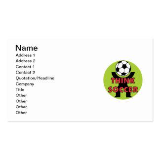 Pensez les T-shirts et les cadeaux du football Carte De Visite Standard