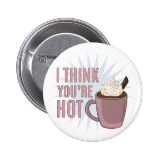 Pensez que vous êtes chauds macaron rond 5 cm