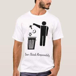 Pensez svp de façon responsable t-shirt