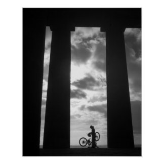 Penshaw Monument with Biker Poster/Print Poster