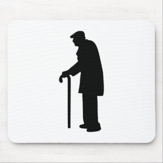 Pensioner retired man mousepads