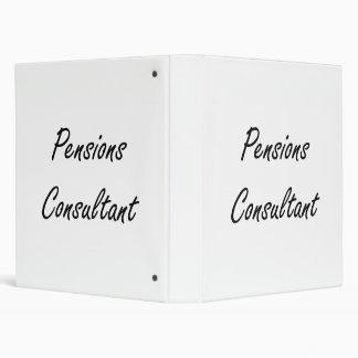Pensions Consultant Artistic Job Design 3 Ring Binder