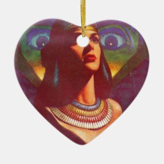 Pensive Egyptian Queen Ceramic Ornament