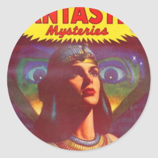 Pensive Egyptian Queen Classic Round Sticker