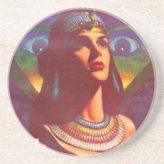 Pensive Egyptian Queen Coaster