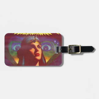 Pensive Egyptian Queen Luggage Tag