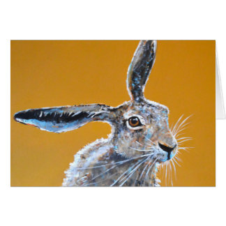 Pensive Hare Card. Card