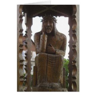Pensive Jesus - Rupintojelis. Vilkija, LITHUANIA Card
