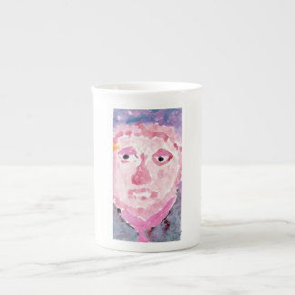 Pensive pink and purple person mug