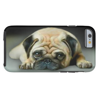 Pensive Pug Dog Tough iPhone 6 Case