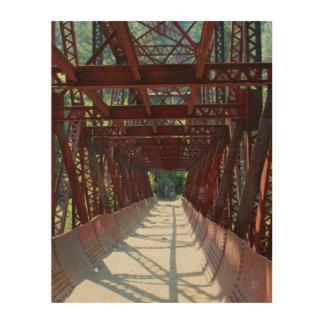 Penstock Pipeline Bridge over the Wenatchee River Wood Print