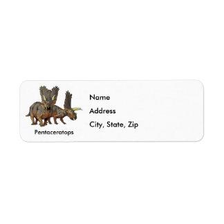 Pentaceratops Return Address Label