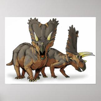 Pentaceratops - Late Cretaceous Dinosaur Poster