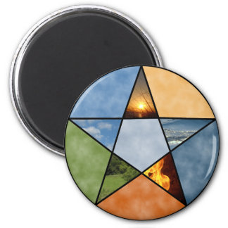 Pentacle 2 Inch Round Magnet