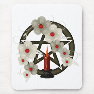 Pentacle an Candle Mouse Pad