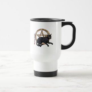 Pentacle Black Cat Travel Mug
