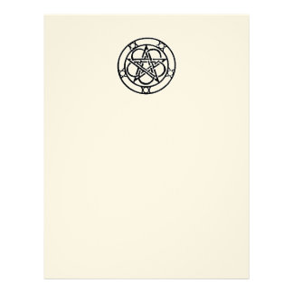 Pentacle Blank Book of Shadows Page