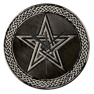 Pentacle Celtic Circle Clocks