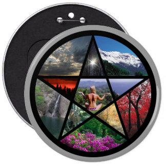 Pentacle Collagebutton 6 Inch Round Button