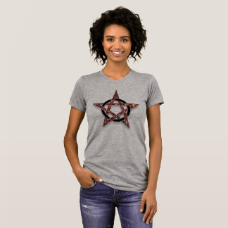 Pentacle Encircled Star Pagan Wicca Tshirt