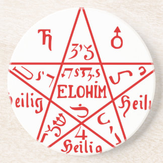 Pentacle_from_the_Sixth_Book_of_Moses Coaster