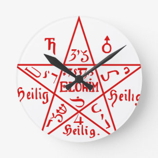 Pentacle_from_the_Sixth_Book_of_Moses Round Clock