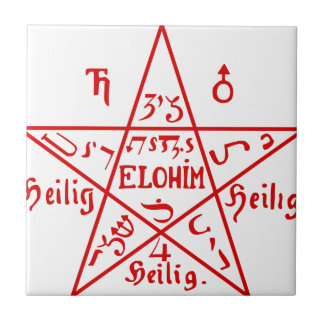 Pentacle_from_the_Sixth_Book_of_Moses Tile