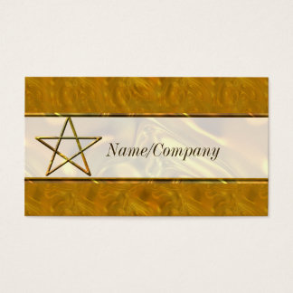 Pentacle in Gold Introduction Card