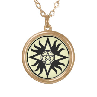 Pentacle of Shamash Amulet Gold Plated Necklace