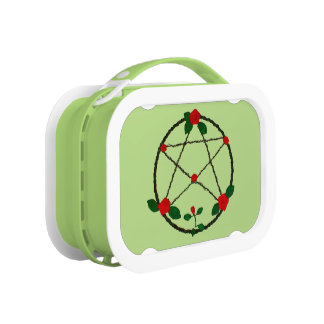 Pentacle of Vines and Red Roses Lunch Box