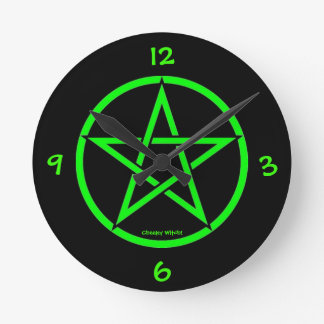 Pentacle Pentagram Clock by Cheeky Witch!