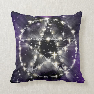 Pentacle Pentagram Star Ocult Pentagon Throw Pillow