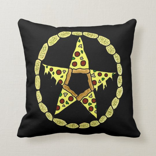 Pentacle Pizza Throw Pillow