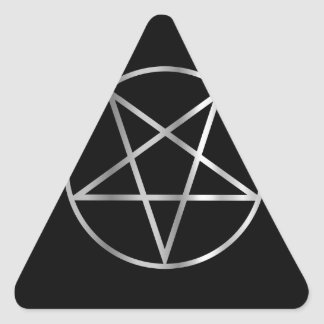 Pentacle- Religious symbol of satanism Triangle Stickers