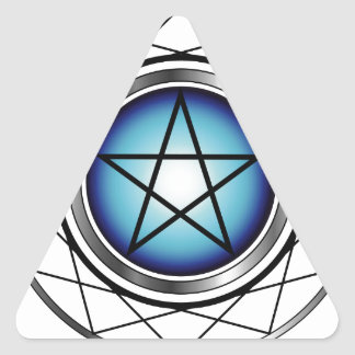 Pentacle- Religious symbol satanism Triangle Sticker