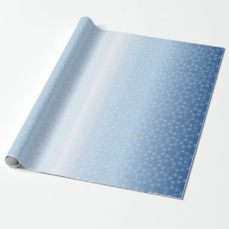 Pentacle Snow Field pattern Wrapping Paper