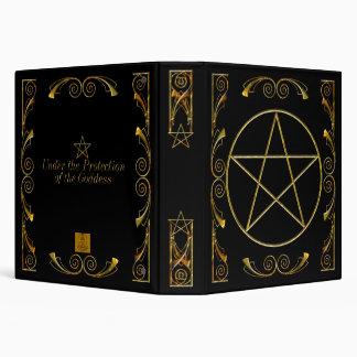 Pentacle,Under the Protection of the Goddess Black Vinyl Binder