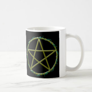 Pentacle with Leaves Coffee Mug