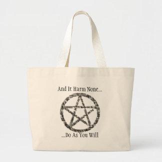 Pentacles Large Tote Bag