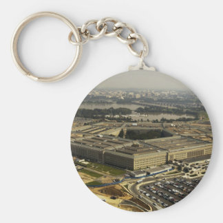 Pentagon Basic Round Button Keychain