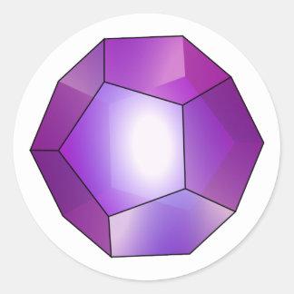 Pentagon Dodekaeder Dodecahedron Round Sticker