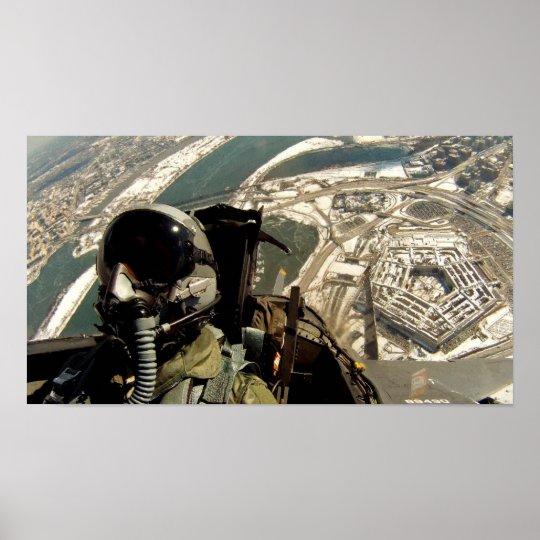 Pentagon Flyover Poster