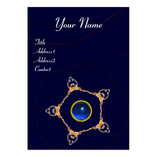 PENTAGON Monogram  sapphire ,blue Business Card Templates