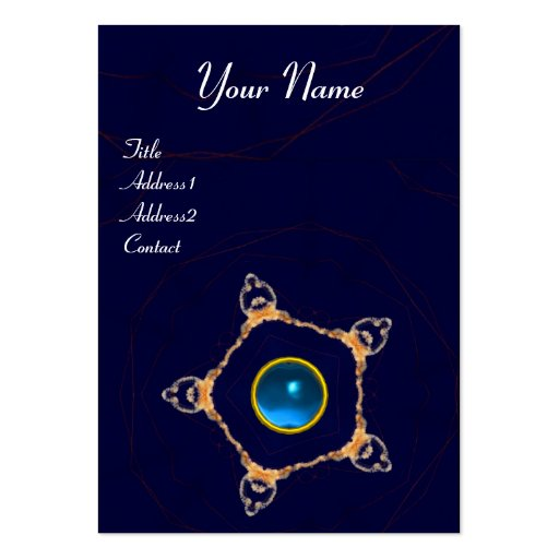 PENTAGON Monogram  sapphire ,blue Business Cards
